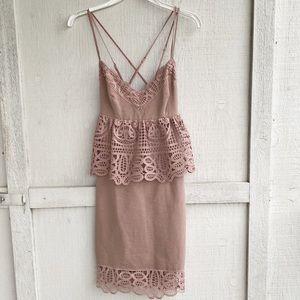 Gianni Bini | Monica Crochet Peplum Dress